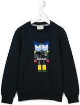 Fendi Monster print cotton sweatshirt