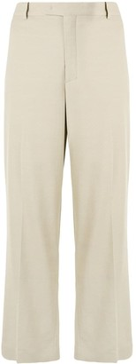 Giambattista Valli High-Rise Cropped Wide-Leg Trousers