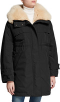 Moncler Lagopede Fur-Collar Hooded Parka