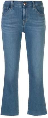 J Brand Selena mid-rise kick-flare jeans