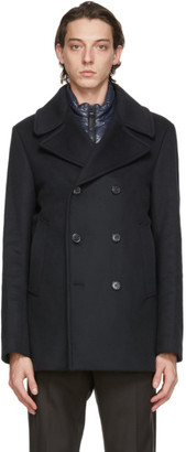 Mackage Navy Wool Noah Coat