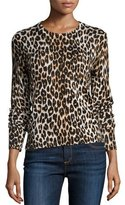 Equipment Shirley Leopard-Print Long-Sleeve Silk Top