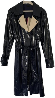 La Perla Blue Patent leather Trench Coat for Women
