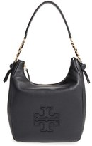 Tory Burch 'Harper' Leather Zip Hobo - Black