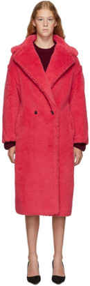Max Mara Red Teddy Bear Coat