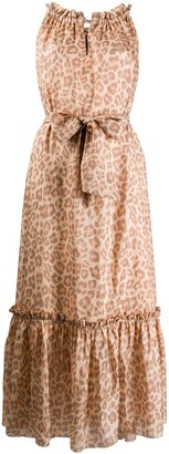 Zimmermann Leopard Print Silk Dress