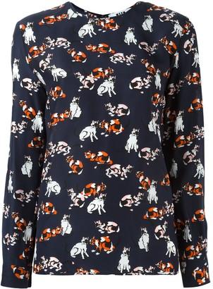 MSGM cat print longsleeved T-shirt