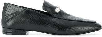 Coliac pearl horse-bit loafers