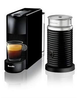 Nespresso Bec250Blk Essenza Mini Bundle Coffee Machine