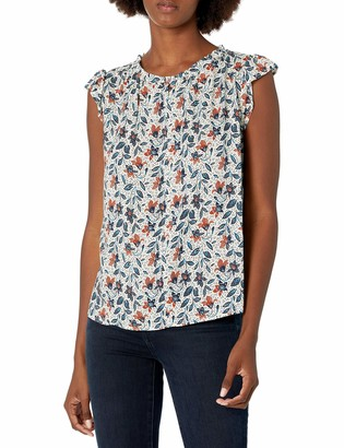 Velvet by Graham & Spencer Women's Rosetta Printed Sleeveless Blouse