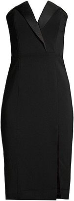 Jay Godfrey Tinsley Strapless Tuxedo Sheath Dress