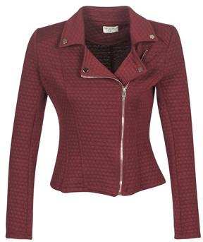 Moony Mood LAULA women's Leather jacket in Bordeaux