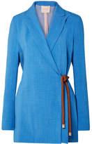 Roksanda Livia Belted Woven Blazer - Azure