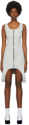 Lourdes Grey Rib Zip Dress