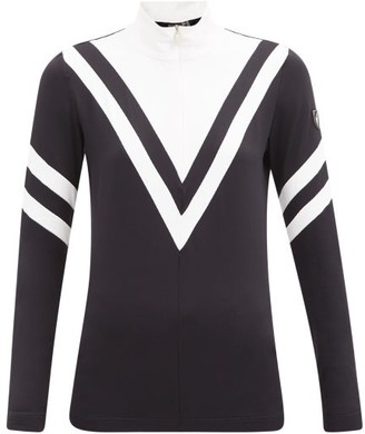 Toni Sailer Hedda Striped Quarter-zip Thermal Top - Black White