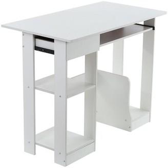 Ebern Designs Adysin Computer Desk Color: White