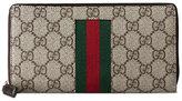 Gucci Web GG Supreme zip around wallet - men - Leather/Canvas - One Size