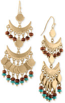 Rachel Roy Gold-Tone Multi-Bead Chandelier Earrings