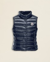 Moncler Girls' Liane Long Season Puffer Vest - Sizes 4-6