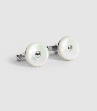 Reiss Tourbillen - Reversible Finish Cufflinks in Silver