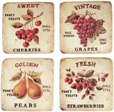 True Fabrications Vintage Sandstone Coasters - multicolor