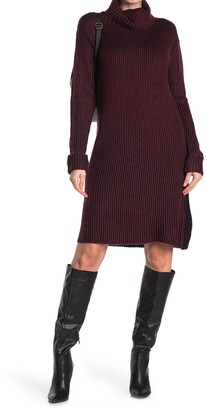 Stitchdrop Two-Tone Ribbed Knit Sweater Dress