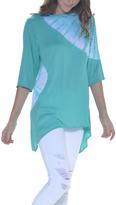 Paparazzi Sea Breeze Tie-Dye Sidetail Tunic