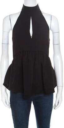 Elizabeth and James Black Crepe Knit Perth Halter Top XS