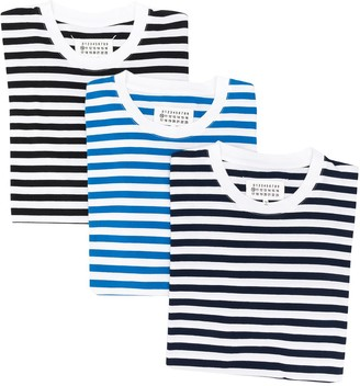 Maison Margiela pack Stereotype striped T-shirts