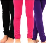 TeeHee Kids Girls Fleece Inner Brushed Thermal Leggings 3 Pack