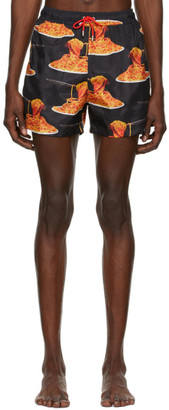 Paul Smith 50th Anniversary Black Spaghetti Swim Shorts