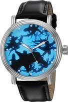 EWatchFactory Men's 'Shark Week' Quartz Metal Sport Watch, Color:Black (Model: WDC000081)