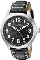 Nautica Men's NAD10004G NCC 01 Date Analog Display Analog Quartz Black Watch