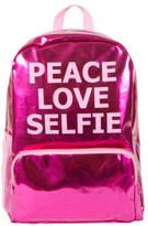 Fashion Angels Pink Metallic Peace Love Selfe Backpack