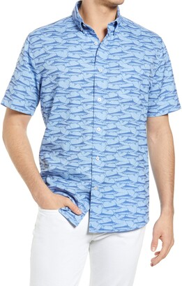 Southern Tide Swordfish Short Sleeve Button-Down Shirt