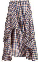 Caroline Constas Adelle asymmetric cotton skirt