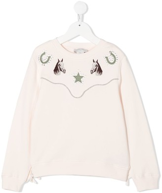 Stella McCartney Kids Horse Print Sweatshirt