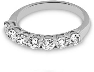 Amcor Design 1.05 CT Classic Prong Set Round Cut Diamond Wedding Anniversary Band Gold