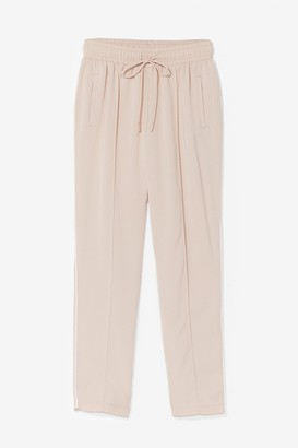 Nasty Gal Womens Maybe Tomorrow High-Waisted Jogger Trousers - Beige - 14