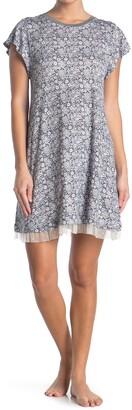 Kensie Short Sleeve Ruffled Nightshirt