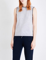 St. John Dot-detail knitted cashmere top