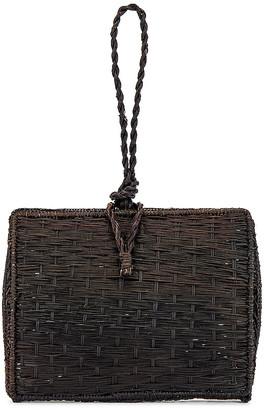 Kaanas Cuzco Vaulted Straw Wristlet Bag