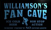 AdvPro Name td1213-b Williamson's Basketball Fan Cave Man Room Bar Beer Neon Light Sign
