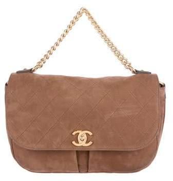 Chanel 2016 Paris-Rome Small Nubuck Messenger Bag