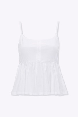 Forever 21 Button-Front Peplum Cami