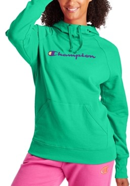 Champion Women's Cotton Powerblend Logo Hoodie