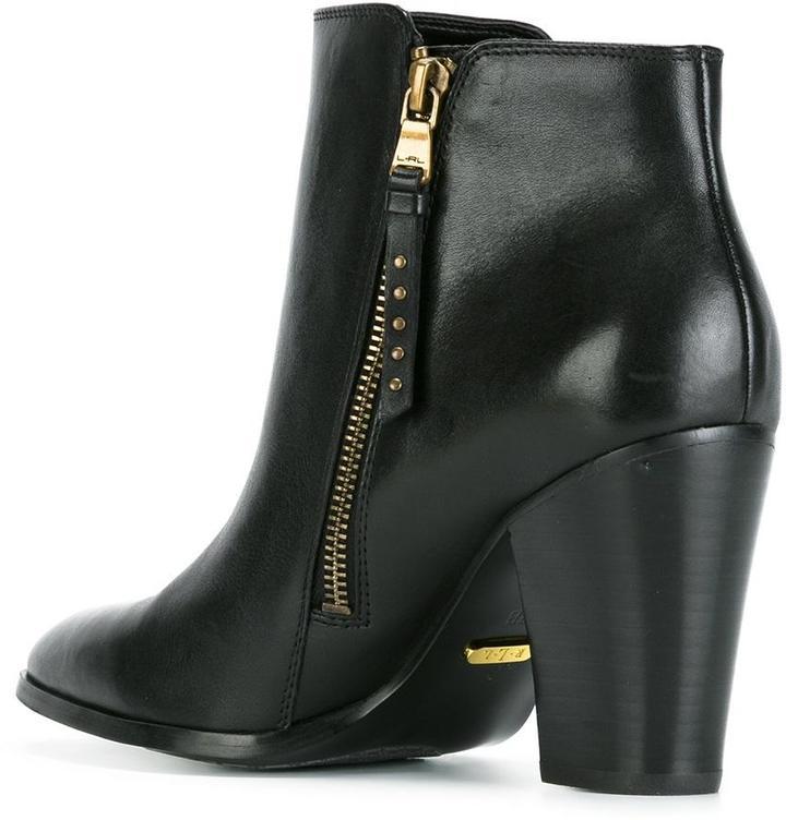 Lauren Ralph Lauren zipped ankle boots