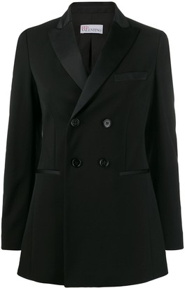 RED Valentino Double Breasted Tuxedo Blazer