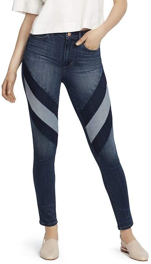 Ella Moss High-Rise Striped Skinny Jeans in Sissy