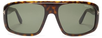 Tom Ford Aviator Tortoiseshell-effect Acetate Sunglasses - Mens - Tortoiseshell